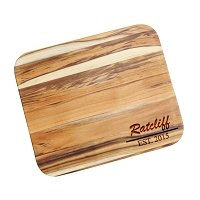 Ratcliff Bold Personalized Teak Cutting Board
