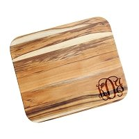 Script Monogram Personalized Teak Cutting Board