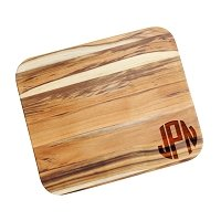 Block Monogram Engraved Teak Cutting Board