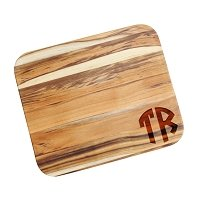 Two Initial Monogrammed Teak Cutting Board