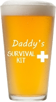 Daddy's Survival Kit Pint Glass