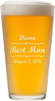 Personalized Script Pint Glass