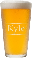 Traditional Etched Pint Glass