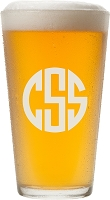 Block Monogram Pint Glass