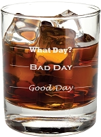 Good Day, Bad Day Rocks Glass