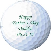 Personalized Fathers Day Golf Balls