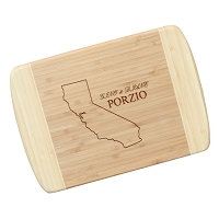 Laser Engraved Bamboo Cutting Board - The Miller