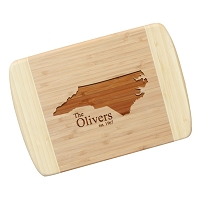 Etched Bamboo Cutting Board - The Oliver