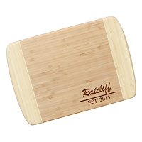 Engraved Bamboo Cutting Board - The Henderson