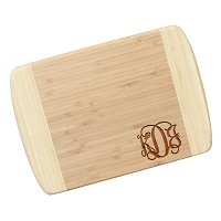 Monogram Bamboo Cutting Board