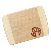 Block Monogram Bamboo Cutting Board