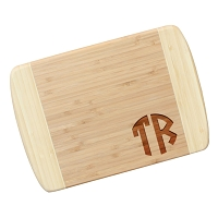 Two Initial Monogram Bamboo Cutting Board