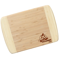 Blonde Bamboo Cutting Board - Jack-o-lantern