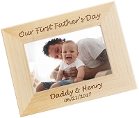 Fathers Day Custom Engraved Photo Frame