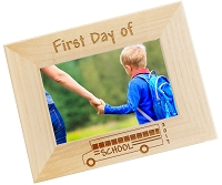 Engraved Picture Frame - First Day of School 2017