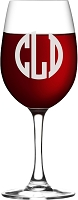 Block Monogram Wine Glass