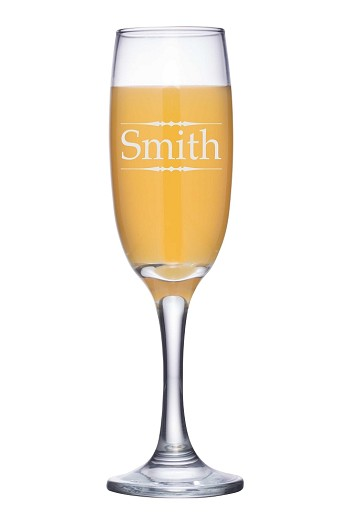 Personalized Traditional Champagne Flute