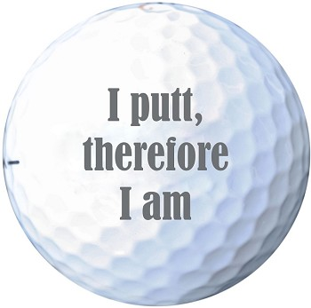 Golf Philosophy Printed Golf Ball Set