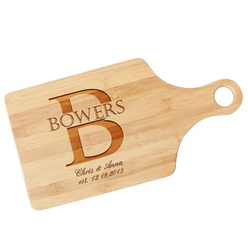 Couple's Initial Personalized Paddle Cutting Board
