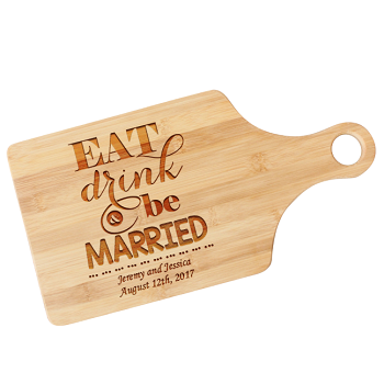 Eat Drink and Be Married Personalized Paddle Cutting Board
