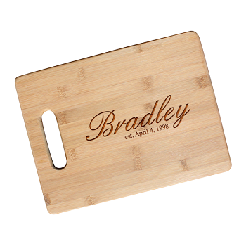 Engraved Bamboo Cutting Board - The Bradley