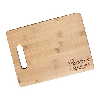 Engraved Bamboo Cutting Board - The Pearson
