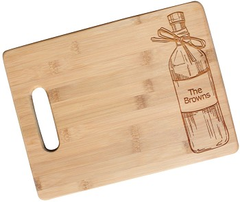 Rustic Cutting Board Personalized with Custom Text