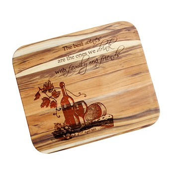 Wine Lovers Custom Wood Cutting Board
