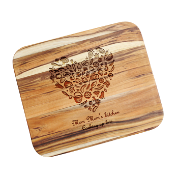 Food Lovers Personalized Teak Cutting Board