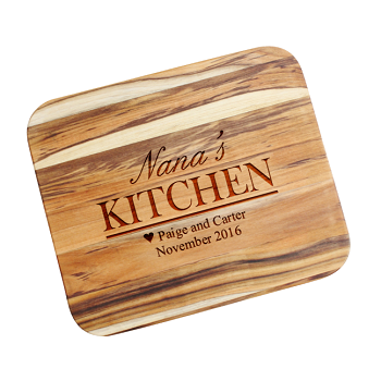 Personalized Mother's Day Gift Teak Cutting Board