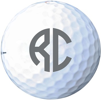 Two Initial Monogram Golf Ball
