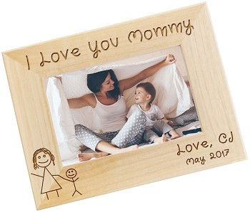 I Love Mommy Personalized Photo Frame