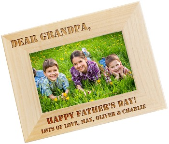 Dear Dad - Personalized Photo Frame