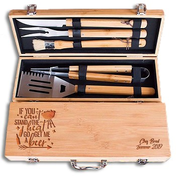 Personalized Get Me A Beer Grill Set
