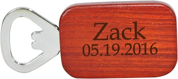 Etched Rosewood Bottle Opener - The Traditional