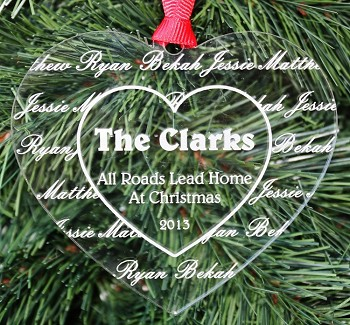 Our Family Heart - Personalized Christmas Ornament