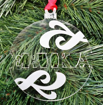 Swirl Name Ornament - Personalized Christmas Ornament