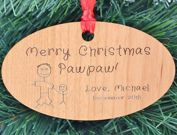 personalized ornament for dad or grandpa - Dad Christmas Ornament