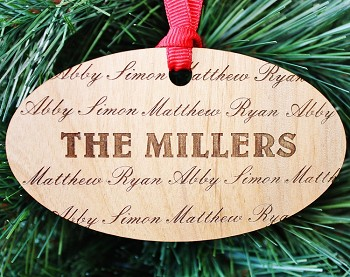 My Family - Personalized Wood Ornament
