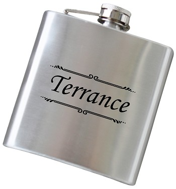 Sophisticated 6 oz Name Flask - Choose Your Color