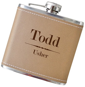 Traditional 6 oz Flask with Personalization - Choose Your Color
