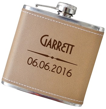Modern 6 oz Flask with Personalization - Choose Your Color