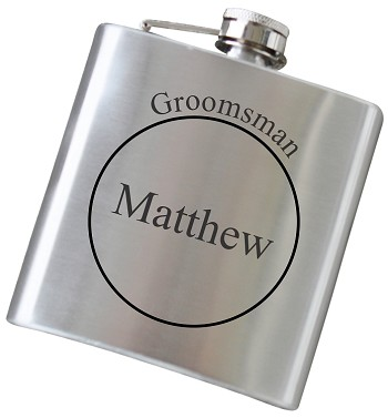 6 oz Flask with Custom Engraving - Choose Your Color