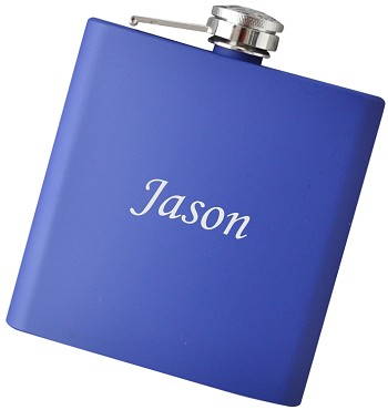 6 oz Personalized Flask with Any Text - Choose Your Color
