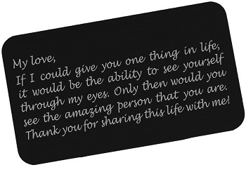 Engraved Wallet Insert - Thank You For Sharing My Life