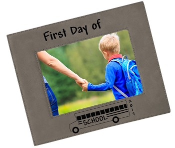 First Day of School 2017 - Engraved Picture Frame