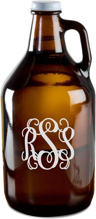 Script Monogram Beer Growler