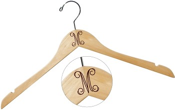 Open Script Monogram Wood Hanger
