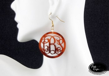 Monogram Dangle Earrings - Framed Vine