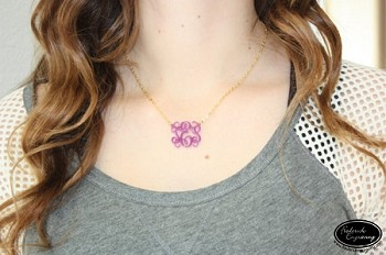 Script Monogram Necklace - Extra Small